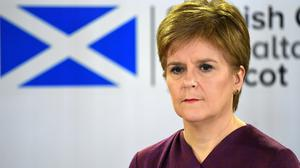 Nicola Sturgeon said some form of social distancing may have to remain in place until a vaccine is found for Covid-19 (Andy Buchanan/PA)