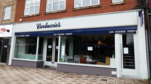 A closed Carluccio's restaurant in West Bridgford, Nottingham after the company announced that it has entered into administration (Tim Goode/PA)
