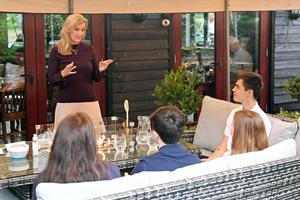 The Countess of Wessex speaks to guests during her visit to The Half Moon (Stuart C Wilson/PA)