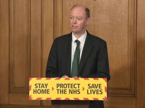 Chief medical officer Chris Whitty (PA Video/PA)