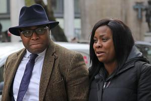 Isaiah Haastrup's mother Takesha Thomas and father Lanre Haastrup (Philip Toscano/PA)