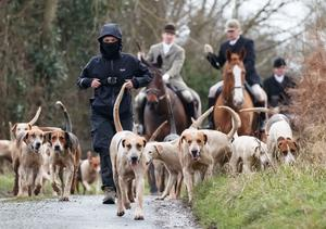 A small number of Boxing Day hunts went ahead around the UK (Danny Lawson/PA)