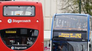 Demand for buses has fallen by about 90% due to coronavirus (Dave Thompson/PA)