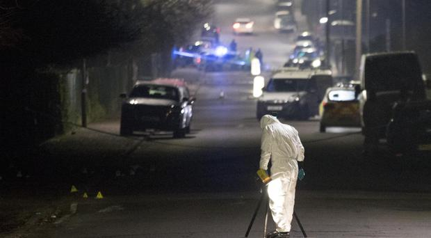Forensic Officers in Willingdale Road near Debden Park High School, in Loughton, Essex, after after a 12-year-old boy was killed when a car crashed into children (Rick Findler/PA)