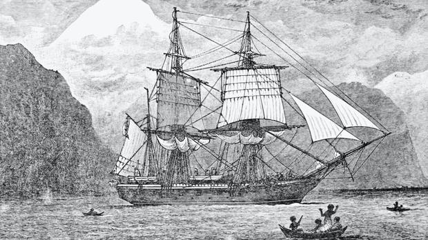 HMS Beagle was the vessel on which Darwin made the observations necessary to develop his theory of natural selection (Historic England/PA)