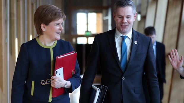 Nicola Sturgeon said Derek Mackay's behaviour 'failed to meet the standards required' (Jane Barlow/PA)