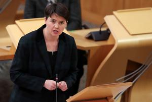 Ruth Davidson accused the SNP of 'hypocrisy' (Russell Cheyne/PA)