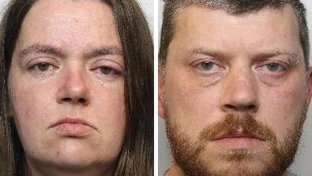 Sarah Barrass and Brandon Machin have been jailed (PA)