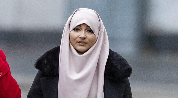 Amaani Noor, 21, arrives at Liverpool Crown Court (Peter Byrne/PA)