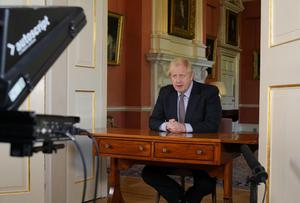 PM Boris Johnson addressed the nation almost two months into lockdown, setting out a roadmap towards lifting restrictions (Andrew Parsons/10 Downing Street/Crown Copyright/PA)
