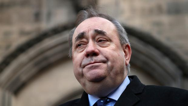 Former Scottish first minister Alex Salmond leaving the High Court in Edinburgh in November (Andrew Milligan/PA).