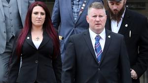 Far-right group Britain First leader Paul Golding and deputy leader Jayda Fransen (Gareth Fuller/PA)