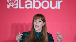 Angela Rayner speaking during the deputy Labour leadership husting at the ACC Liverpool (Danny Lawson/PA)