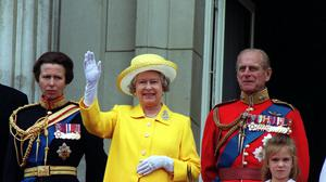Anne and her parents the Queen and the Duke of Edinburgh (John Stillwell/PA)