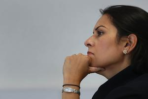 Home Secretary Priti Patel said she would not allow 'senseless individuals' to undermine progress against coronavirus (Gareth Fuller/PA)