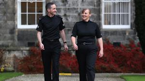 Police constables Laura Sayer and Kenneth MacKenzie were seriously injured during an incident in Greenock (Andrew Milligan/PA)