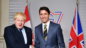 Boris Johnson and Justin Trudeau agreed the deal over a video call (PA)