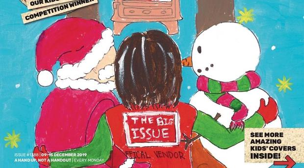 The wining design featured Santa Claus and a snowman (Big Issue/PA)