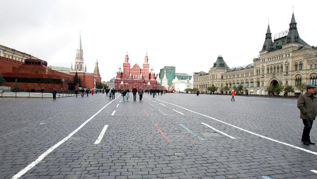 A view of Red Square in Moscow, just outside the walls of the Kremlin (Owen Humphreys/PA)