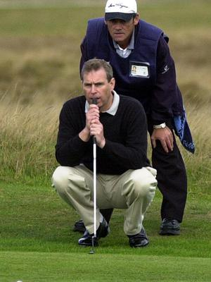 The Duke of York playing golf (Andrew Milligan/PA)