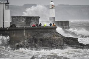 The coastal area was buffeted by heavy winds (Ben Birchall/PA)