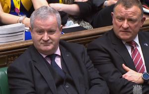 SNP MP Drew Hendry (right), with the party's Westminster leader Ian Blackford. (House of Commons/PA)