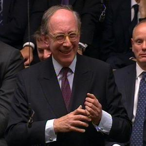 Sir Malcolm Rifkind MP speaks during a tribute to Baroness Margaret Thatcher