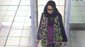 CCTV footage of Shamima Begum, then 15 at Gatwick airport (Metropolitan Police/PA)