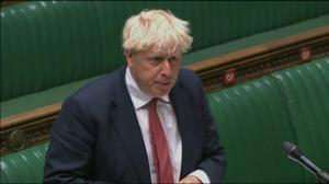 Boris Johnson speaks during Prime Minister's Questions in the House of Commons (PA)