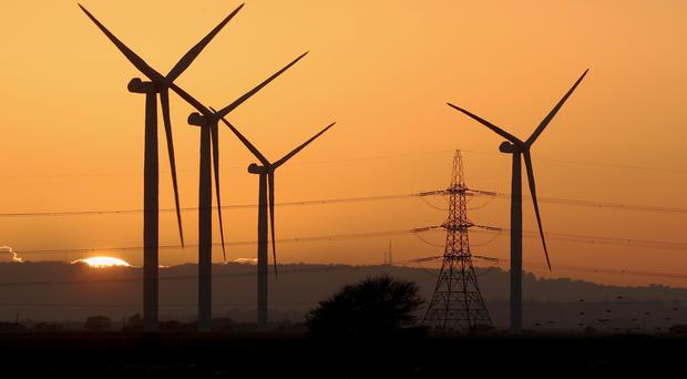 Clean energy sources have outstripped fossil fuels in the UK for the first time (Gareth Fuller/PA)