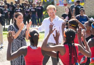 Harry and Meghan in South Africa (Dominic Lipinski/PA)