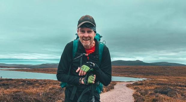 Martyn Wells during the Cape Wrath trek (Martyn Wells expedition/PA)
