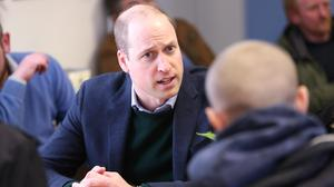 The Duke of Cambridge during a visit to the Beacon Project (Chris Jackson/PA)