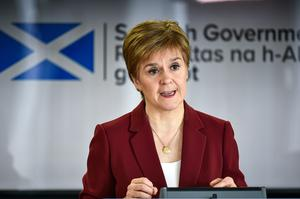 The First Minister was asked about the plan at the daily coronavirus briefing (Jeff J Mitchell/PA)