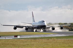 The plane touched down at Cotswold Airport on October 8 (British Airways/PA)