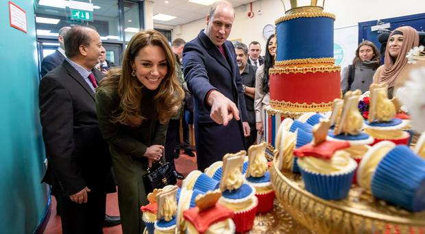 The Duke and Duchess of Cambridge during a visit to a Khidmat Centre in Bradford (Charlotte Graham/PA)