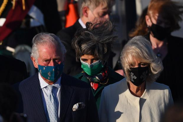 The Prince of Wales and the Duchess of Cornwall arrive at Athens International Airport in Greece for a two-day visit (Victoria Jones/PA)