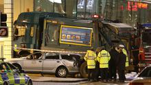 The scene in Glasgow's George Square after the bin lorry crash