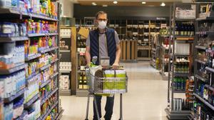 Latest Kantar data shows shoppers are still heading to stores despite mask restrictions (Victoria Jones/PA)