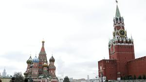 St Basil's Cathedral (left) in Red Square in Moscow, just outside the walls of the Kremlin (Owen Humphreys/PA)