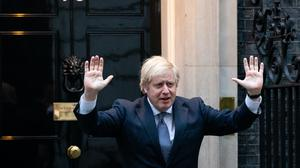 Prime Minister Boris Johnson stands outside 10 Downing Street in London (Aaron Chown/PA)
