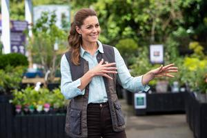 The duchess told owners Martin and Jennie Turner she loved coming to garden centres with her three children (Aaron Chown/PA)