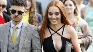 Racegoers on Ladies Day of Aintree's Grand National