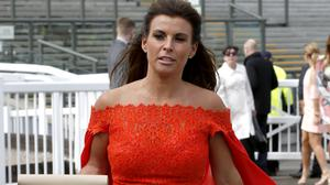 Coleen Rooney attended the first day of the races to celebrate her 30th birthday