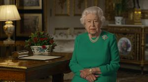 The Queen during her televised address (Buckingham Palace/PA)