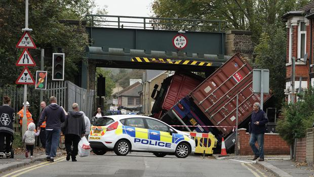 The LGA wants local authorities to be able to issue fines to any lorry driver who ignores road restrictions (Gareth Fuller/PA)