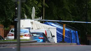 Forensic officers work near Forbury Gardens, in Reading town centre (Aaron Chown/PA)