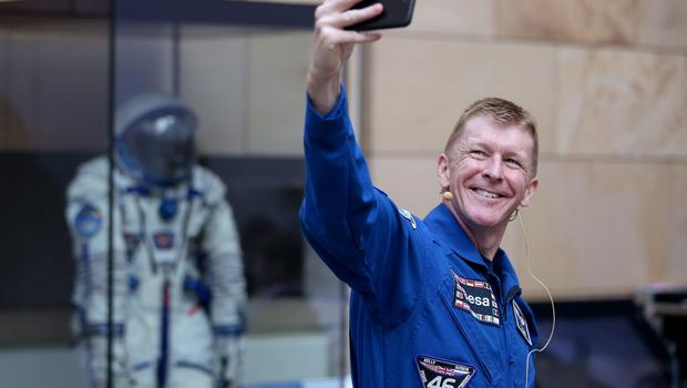 Also on display is the spacesuit Major Peake wore on his high-speed journey back from the International Space Station (Jane Barlow/PA)