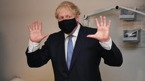 Prime Minister Boris Johnson during a visit to Tollgate Medical Centre in east London (Evening Standard/Jeremy Selwyn/PA)