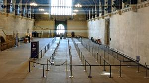 The queuing system which has been put in place at Westminster Hall in the Palace of Westminster (George Ryan/PA)